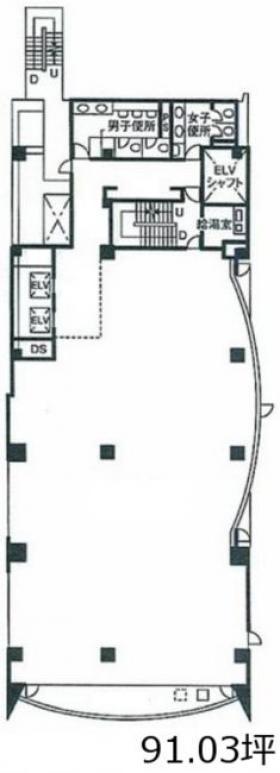 アソルティ大宮ル・ノードビル:基準階図面