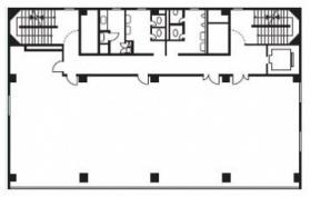 大宮東町第一生命ビル:基準階図面