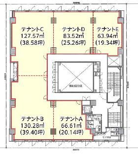 プライムメゾン横濱日本大通:基準階図面