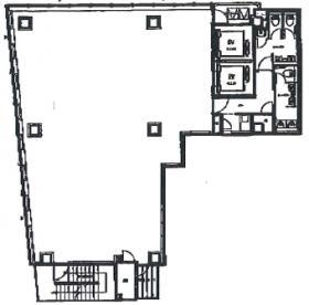 新宿第1アオイビル:基準階図面