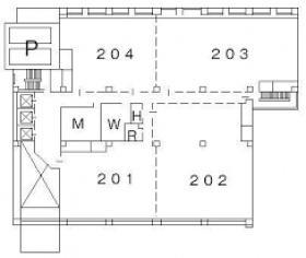 横浜クリード:基準階図面