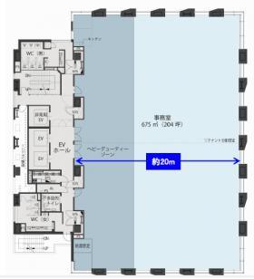 マークライト虎ノ門ビル:基準階図面