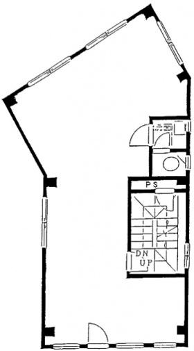 西野ビル:基準階図面