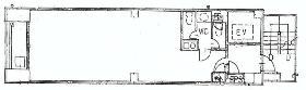 坂根八重洲ビル:基準階図面