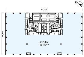 MMパークビル:基準階図面