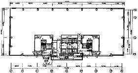 みなとみらいビジネススクエア:基準階図面
