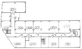 松岡九段ビル:基準階図面