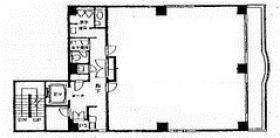 本町矢田ビル:基準階図面