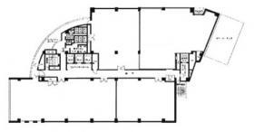 KDX横浜(旧アーバンスクエア横浜)ビル:基準階図面