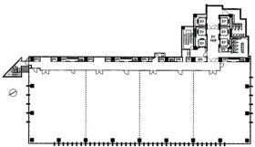 横浜プラザビル:基準階図面