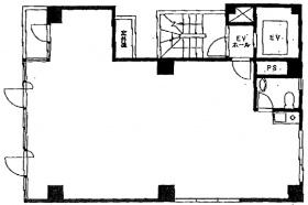 大阪屋ビル:基準階図面