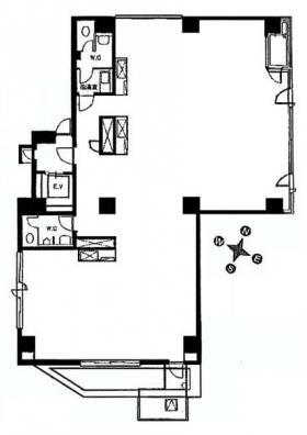 パレ・ウルー:基準階図面