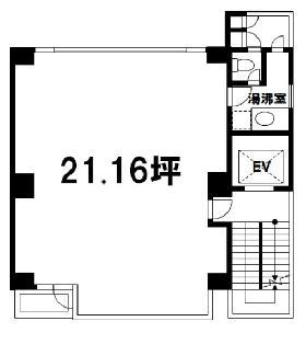 アーベイン三井ビル:基準階図面