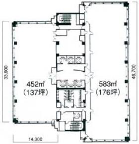TSプラザビル:基準階図面