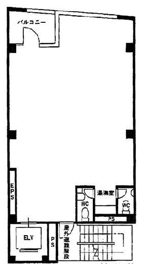 築地SKビル:基準階図面