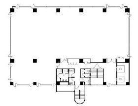 Nビル東陽町:基準階図面
