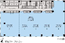 横浜ファーストビル:基準階図面