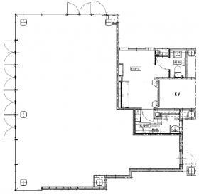 東京石灰工業(株)東石ビル:基準階図面