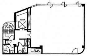 内藤町ビルディング:基準階図面