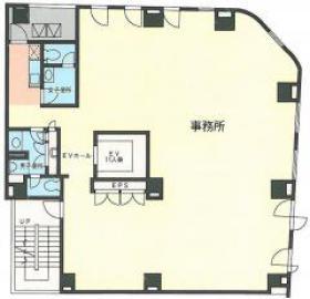 銀座香蘭社ビル:基準階図面