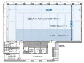 銀泉新橋第2ビル:基準階図面