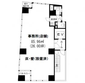 G-FRONT青山ビル:基準階図面