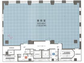 虎の門高木ビル:基準階図面