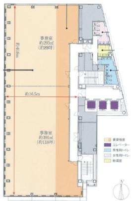 東光電気工事ビル:基準階図面