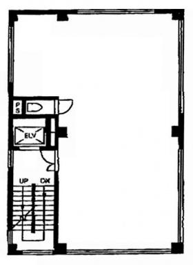 名畑ビル:基準階図面