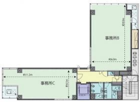 55-1京橋ビル:基準階図面