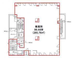 二番町平和ビル:基準階図面