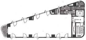 駿河台スカイビル:基準階図面