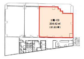 NMF高輪ビル:基準階図面
