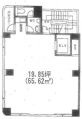 八丁堀AFビル:基準階図面