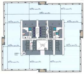 大手町フィナンシャルシティグランキューブ:基準階図面