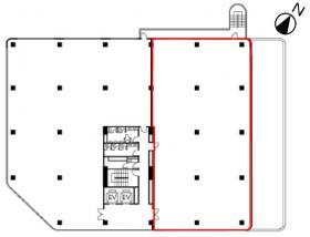 宮崎台ガーデンオフィスビル:基準階図面