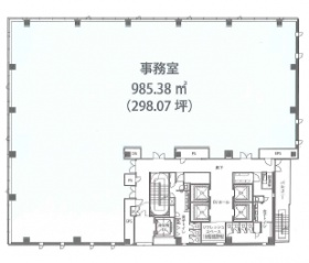 ネクストサイト渋谷ビル:基準階図面