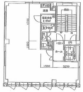 TAKI銀座ビル:基準階図面