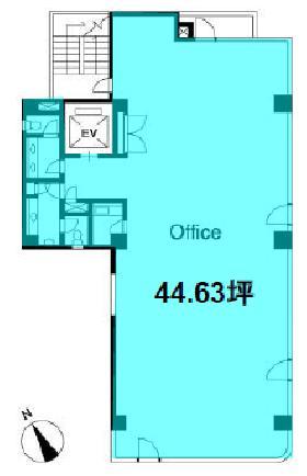 共和15番館ビル:基準階図面
