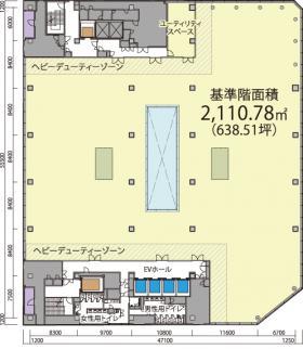 仮称)道玄坂一丁目駅前計画 (東急プラザ建替え)ビル:基準階図面