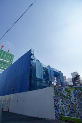 仮称)道玄坂一丁目駅前計画 (東急プラザ建替え)ビルのエントランス
