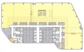 赤坂インターシティAIR:基準階図面