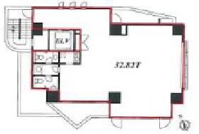 NBCアネックス市谷ビル:基準階図面