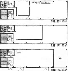 サンライズビル:基準階図面