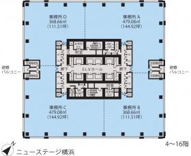 ニューステージ横浜ビル:基準階図面