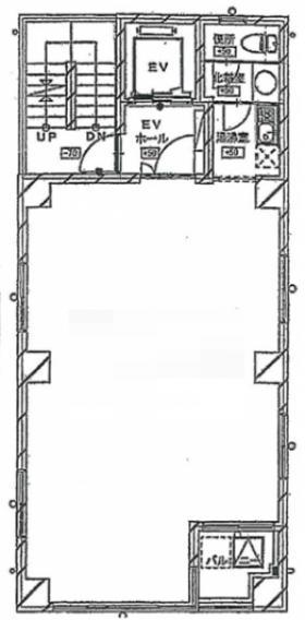 フロンティアビル:基準階図面