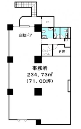 QROCO日本橋ビル:基準階図面