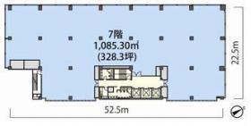 レンタルオフィス虎ノ門40MTビルセンター:基準階図面