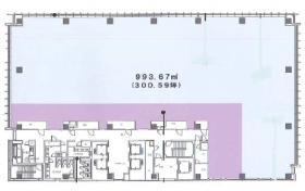 アグリスクエア新宿ビル:基準階図面