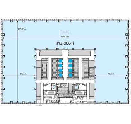 丸の内二重橋(仮)丸の内3-2計画 21F 36坪(119.00m<sup>2</sup>) 図面